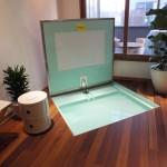みんなびっくり!床が自動で開いて中には浴槽が…。スペースを効率よく使うアイデア。