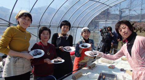 越生・山口農園で花寿司体験をしました