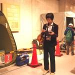 さまざまな避難所生活グッズが展示されています